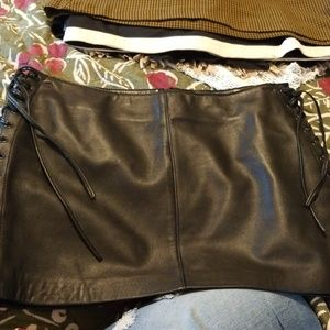 BeBe leather mini Skirt